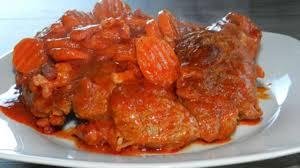 cuisiner le jarret de boeuf jarret de boeuf à la sauce tomate recette par mamyloumich