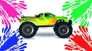 100 Youtube Trucks For Kids Monster Truck Videos Learning Colors Learning