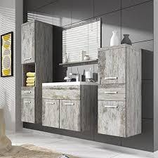 de badezimmer schrank alba 60 cm becken grau