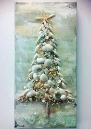Driftwood Christmas Trees Cornwall by Shell Tree Mounted Beachy Christmas Stuff Pinterest Shell