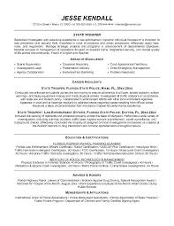 Sample Police Officer Resume Objective With Professional Experience As Law Enforcement
