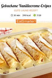 gebackene vanillecreme crêpes