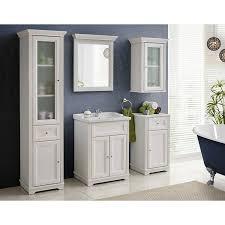 vintage badezimmer hochschrank im landhausstil celaya 56 andersen pine weiß b x h x t ca 48 x 190 x 43cm