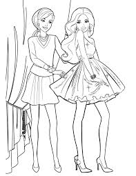 Barbie Coloring Pages Fashion For Kids To Print Medium Size