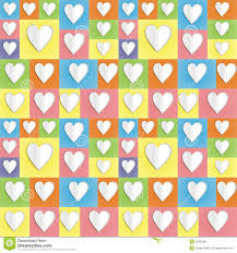 Download Colour Paper Heart Background Stock Illustration