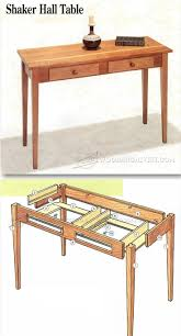 shaker hall table plans furniture plans and projects