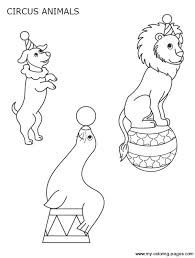 Circus Animal Coloring Pages Dessin De Coloriage Cirque 224 Imprimer Cp08015