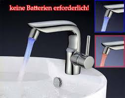led wasserhahn licht blau armaturen aufsatz adapter küche