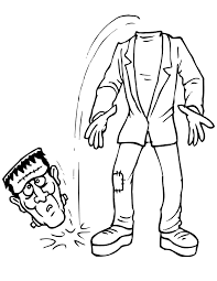 Frankenstein Coloring Page 3