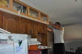 Kitchen Soffit Painting Ideas by Kitchen Makeover Tearing Out More Soffit Suede Sofa
