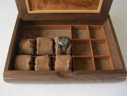 Mens Dresser Valet Plans by Watch Jewelry Box