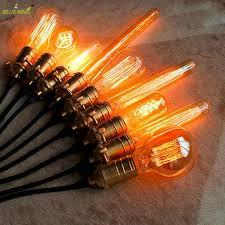 antique vintage retro edison light bulbs 220v 110v e27 40w
