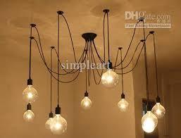 10 bulbs flexable light edison ancints vintage chandeliers diy