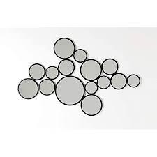 kare design spiegel bubbles schwarz 93x138cm besonderer
