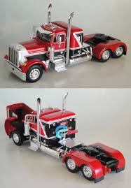 Contemporary Manufacture 180533: Red Black Peterbilt Small Bunk Day ...