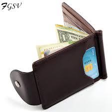 wholesale korea fashion brown grey color money clips high quality