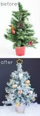 Pink Christmas Tree Flocking Spray by Thrifty Diy How To Paint An Artifical Christmas Tree Design