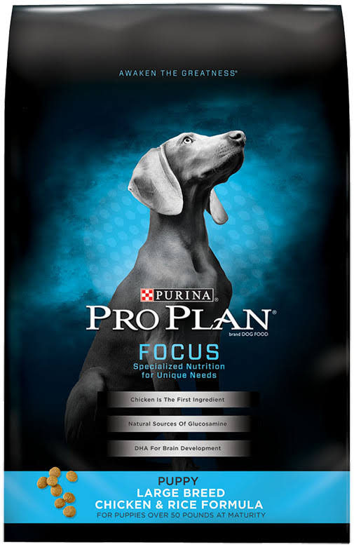 Purina Pro Plan Dry Dog Food - Chicken Rice Formula, 18lbs, Large Breed