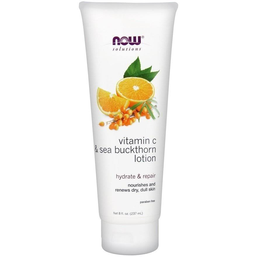 Now Foods Solution Lotion - Vitamin C & Sea Buckthorn, 237ml