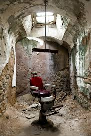 Eastern State Penitentiary Halloween 2017 by A Barber Chair In Cell Block 10 Of The Abandoned Eastern State