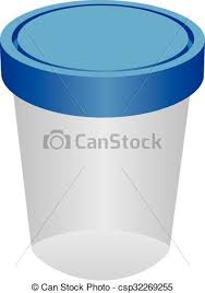 The plastic container for urine vector illustration clipart