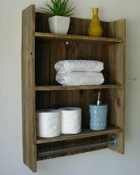 Rustic Towel Bars On Pallet Racks For Bathroom