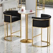 luxus rosa grau weichen samt eisen goldene metall sessel wohnzimmer stuhl bar stuhl kommode kaffee freizeit barhocker