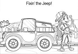 Jeep 4x4 Coloring Book Page Kids