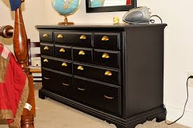 Black Dresser 8 Drawer by Bedroom Artistic Black Wooden Dresser With Multiple Drawers And