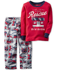 100 Fire Truck Pajamas Boasting A Rescueready Firetruck Theme This Twopiece Carters