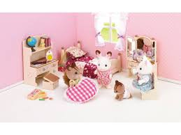 sylvanian families sister s bedroom set calico critters epoch