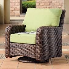wicker swivel glider chair patio rocking chairs gliders wayfair