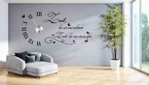 details zu wanduhr wandtattoo uhr wohnzimmer wandsticker wandaufkleber spruch uhrwerk tku1
