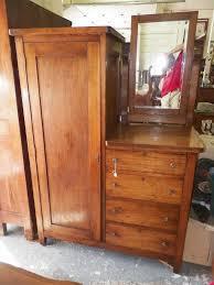 Tiger Oak Dresser Beveled Mirror by Antique Oak And Cedar Gentleman U0027s Armoire Dresser W Mirror Cedar