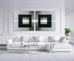 original abstrakt metall bild modern schwarz weiß silber
