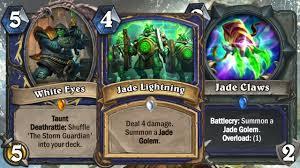hearthstone jade golem shaman deck building youtube