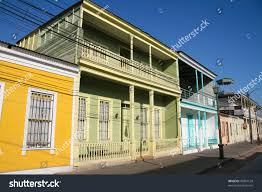 100 Houses In Chile Facades Calle Baquedano Typical Architecture Stock Photo