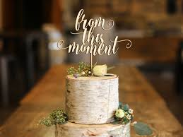 From This Moment Wood Cake Topper