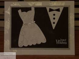 For This Last One I Used The Dress Up Framelits Changed Out Rhinestones With Some 1 8 Silver Ribbon And A Flower Framed Card