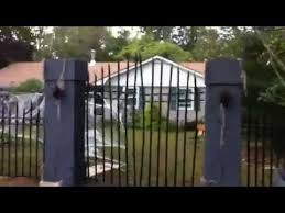 Halloween Cemetery Fence by Cemetery Fence Day Time View At He U0027ll House 59 Youtube