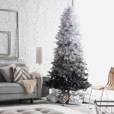 Snowy Dunhill Christmas Trees by Vintage Black Ombre Spruce Pre Lit Christmas Tree By Sterling Tree