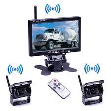 100 Backup Camera System For Trucks Podofo Wireless Waterproof Vehicle 2 X Kit DC 12V 24V
