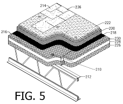 Tectum V Line Ceiling Panels by Patent Us7765756 Low Noise Roof Deck System Google Patents