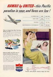 United Airlines Hawaii Stratocruiser Berths 1952