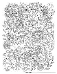 Flower Coloring Pages Awesome Adult With Hard Detail Abstract Printable Free