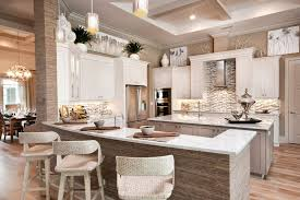 Decorating Above Kitchen Cabinets With Baskets Beach Style Vent Hood Coffered Ceiling Counter Stools