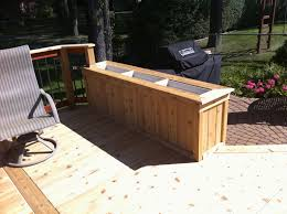 cedar planter box built from tongue and groove 1x6 1x4 trim and