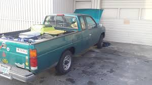 100 1995 Nissan Truck Bloody Heathens Jacked My Truck Last Night Green