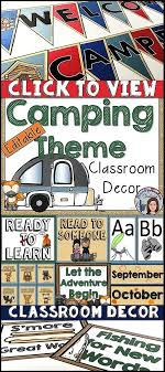 Camping Classroom Editable Decor For Your Elementary Students Will Love Learning In