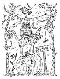 Halloween By The Chubby Mermaid Zentangle Coloring Pages Colouring Adult Detailed Advanced Printable Kleuren Voor Volwassenen